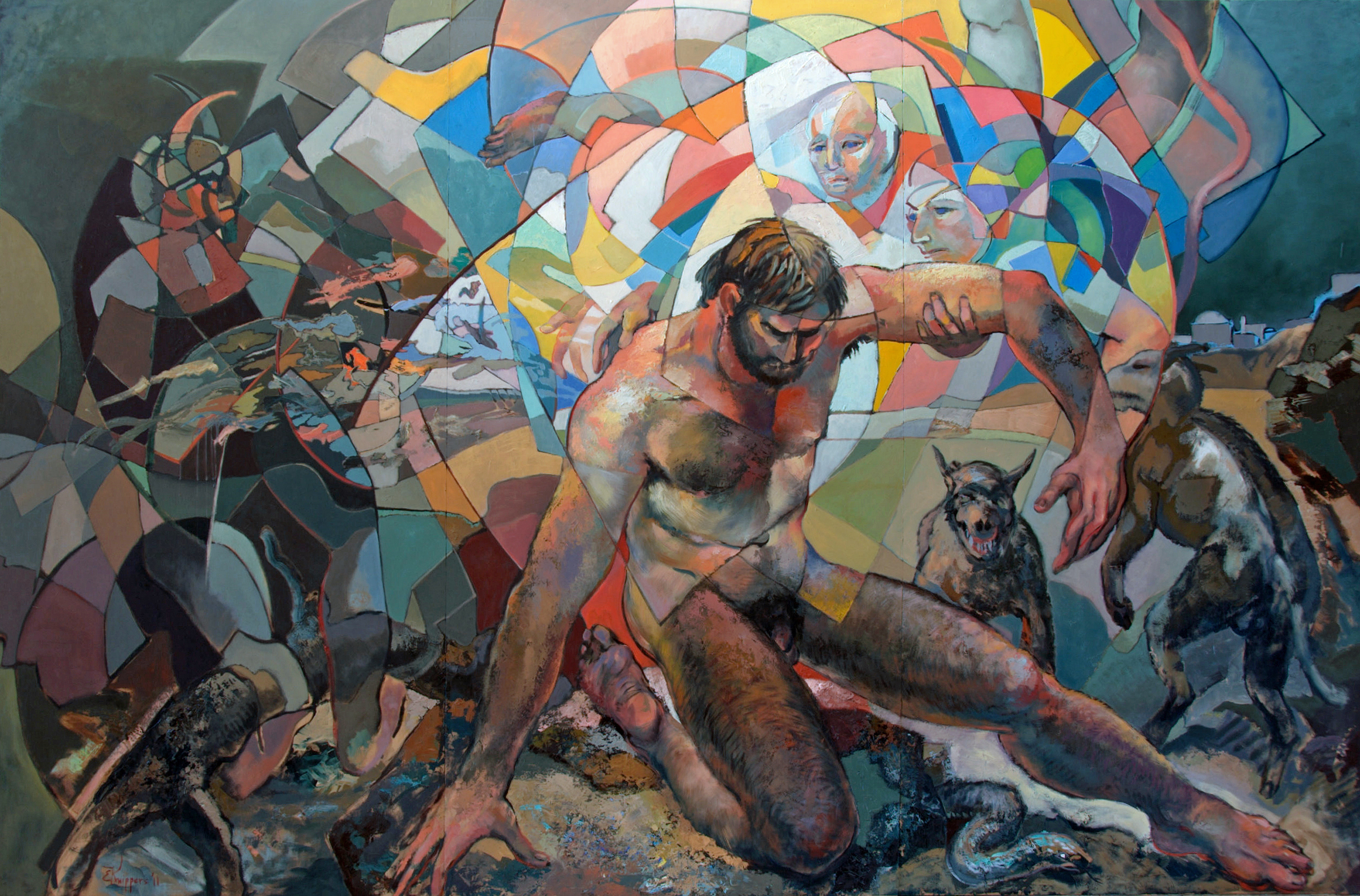 Christ in the Wilderness Oil on panel - 8' X 12' - 2011