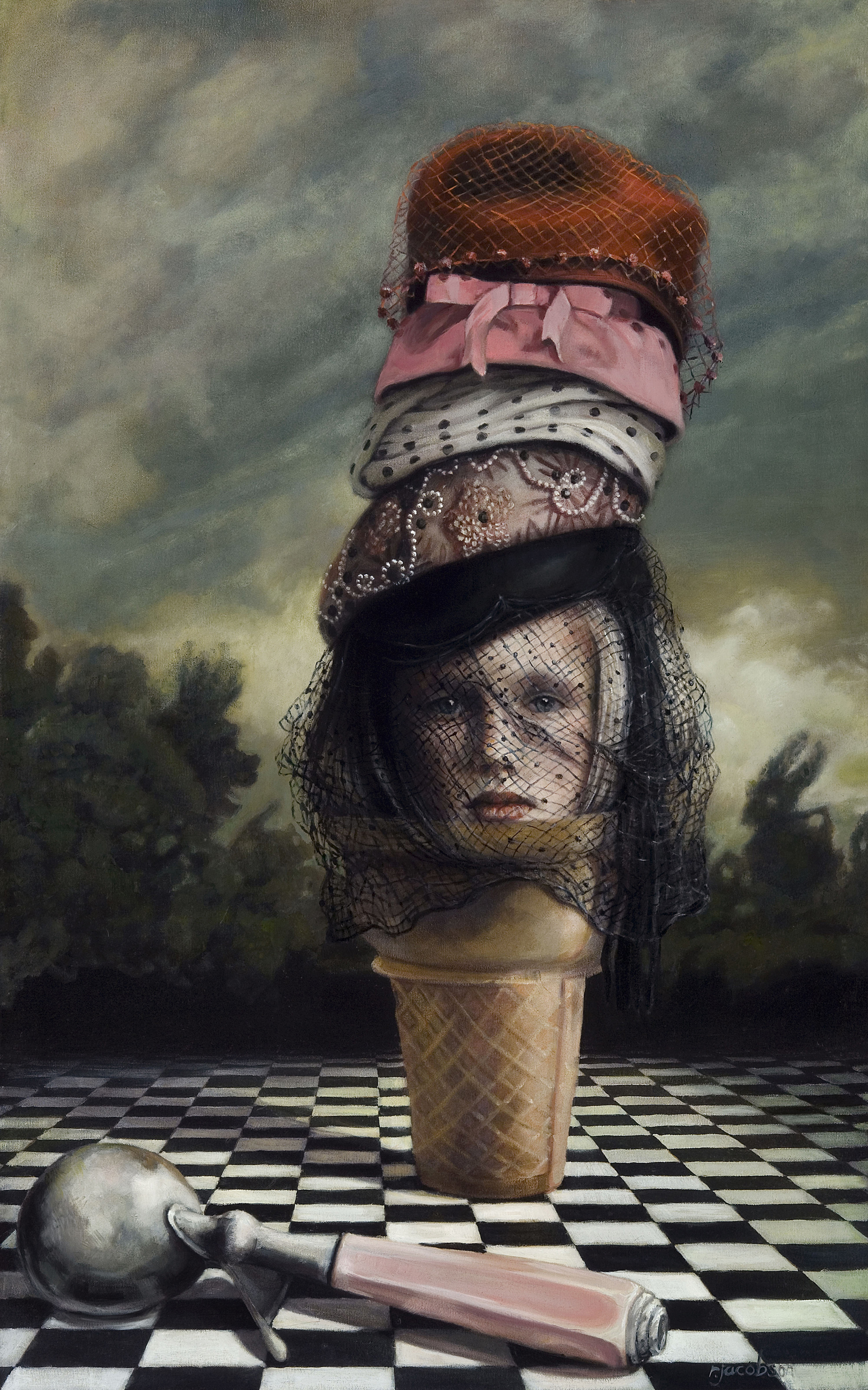"Wearing My Sundae Best 48 x 30"", oil on canvas"